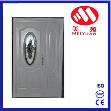 Горячая Иордания стальная входная дверь основной конструкции со стеклом