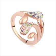 VAGULA золото обшивки моды Rhinestone палец кольцо
