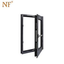 Double glass arched french horizontal pivoting casement window