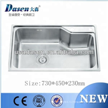 DS7345 одобренный CE нержавеющей стали для мытья посуды кухонная раковина двойная чаша