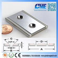 Alta calidad Los imanes de neodimio magnéticos de la asamblea de la cuchilla N40