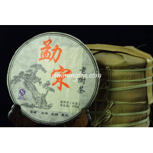 2010 Spring Mengsong Mountain Old Tree Raw Pu Er / Pu-erh, 357g / gâteau