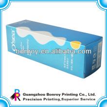 Full color flat folding box packaging