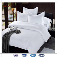 2015 New Luxury Design Double Stitching 100 Coton Plain White Bed Sheet Bed
