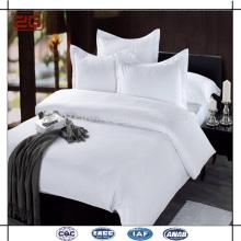 2015 New Luxury Design Double Stitching 100 Cotton Plain White Hotel Bed Sheet