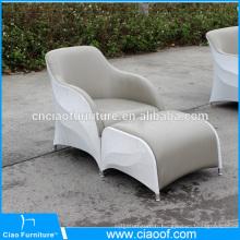 Pas cher en plein air PU en cuir unique siège canapé chaise