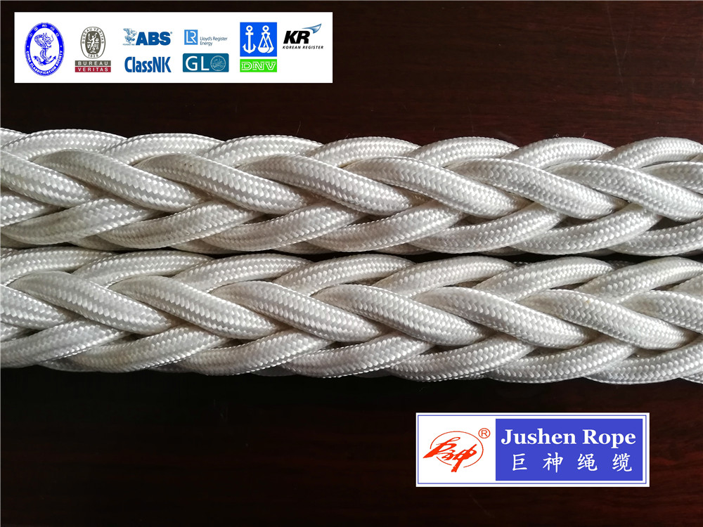 Single-strand UHMWPEpolyester covered rope