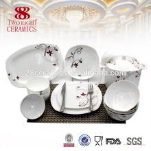 Guangzhou decalque china cerâmica 72 pcs jantar conjunto com flor