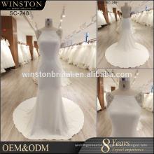 Fashion round Neckline wedding dress mermaid 2017 elegant bridal gown