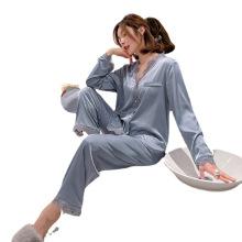 Customized logo cooling ice fiber Satin women pajama pajamas Sleepwear Sleepwears