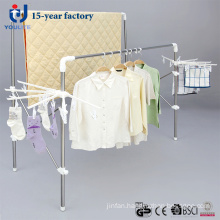 New Design Stainless Steel Double Pole Telescopic Clothes Hanger