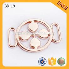 BB19 Custom design gold metal garment belt buckle