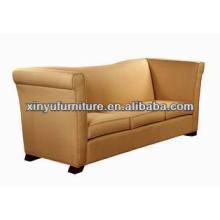 Hotel lobby reception tub shape 3 seater sofa XY0923