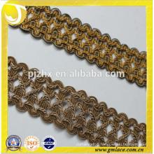 gold thread tassel trimming fringe in stock