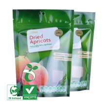 China supplier plastic stand up zipper pouches bag for dried fruits