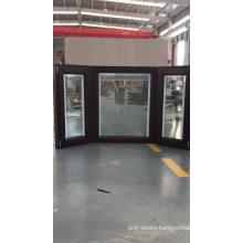 European Standard aluminum wood composite corner window tilt turn bay window