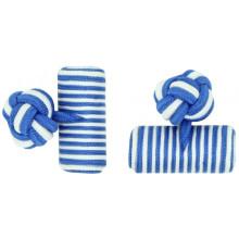 Custom Elastic Cylinder Silk Knot Cufflinks