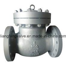 ANSI Bronce de acero al carbono Final de la válvula de retención oscilante