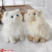 EN71&ASTM standard white plush walking cat toy