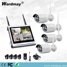 4CH 1.3 / 2.0MP Wifi NVR-kits met 12-inch monitor