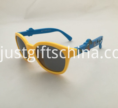 Promotional Kids Elastic Cartoon Dog Sunglasses2