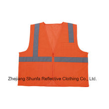Class 2 High Visibility Cheap Wholesale Safety Vest with ANSI