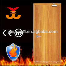 High Quality BS476 hotel fire rated single timber doors