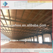 Manufacture and design mini industrial steel warehouse shed design for sale