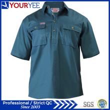 OEM ODM manga curta trabalho camisas trabalho desgaste (yws113)