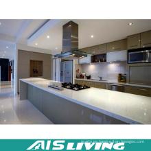 Muebles de armarios de cocina de puerta UV con isla de tabla larga (AIS-K188)