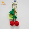 Crochet Cherry Key Chain Porte-clés avec gland