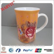 12OZ Opal Glassware Cup / Aboral Glass Mug / Décorée en verre coloré