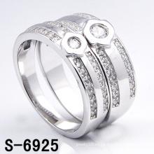 Anillo de bodas de plata blanco de moda 925 (S-6925. JPG)