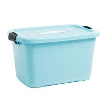 Boîte de rangement en plastique colorée avec poignée pour le stockage (SLSN001)