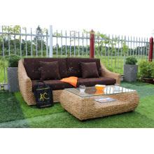 2017 Europe Design Water Hyacinth Sofa Set for Indoor Wicker Furniture