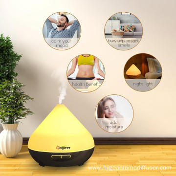 Air Humidifier Wooden Wood Oil Aroma Diffuser 300ml