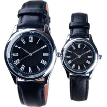 Cheap Analog Leather Band Watch Lover Wristwatches Promotion