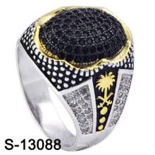 Nuevo modelo de 925 hombres de plata con anillo pequeño CZ (S-13088, S-13097D, S-13028D, S-13078W, S-13084D, S-13080)