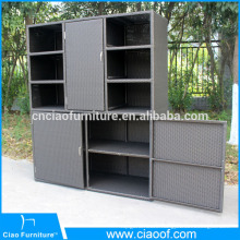 Rattan bookcase, hotel restaurant cabinet for outdoor use