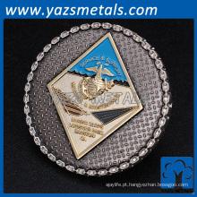 Lembrança de desafio de latão antigo personalizado militar marinha força aérea metal moeda