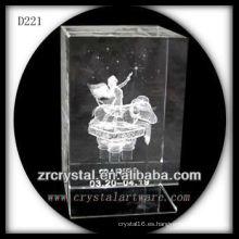 K9 3D subsuperficie láser Aries dentro de rectángulo de cristal