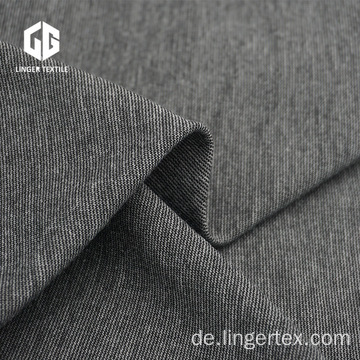 Heather Grey Polyester Rayon Spandex Roma Stoff