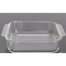 Квадратный стеклянный противень для выпечки / стеклянные выпечки / выпечка
