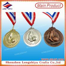 Metal Medalla de Deportes 3D para el Juego de Fútbol / Competición de Fútbol