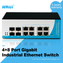 Fiber optical equipment 12 port industrial ethernet switch