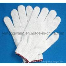 El algodón blanco barato hizo punto los guantes / las manoplas de trabajo del trabajo