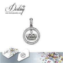 Destiny Jewellery Crystal From Swarovski Necklace My Crown Pendant