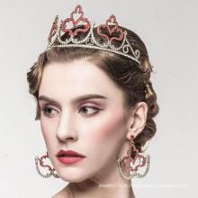 Tiaras de imitação da coroa da pérola da liga nupcial da tiara e coroa