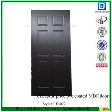 FANGDA billigster Preis PVC beschichtete MDF Tür