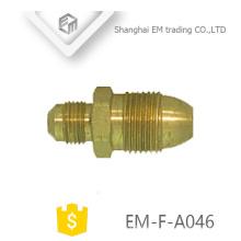 EM-F-A046 Conector rápido de rosca Conector de latón de tubería de cobre